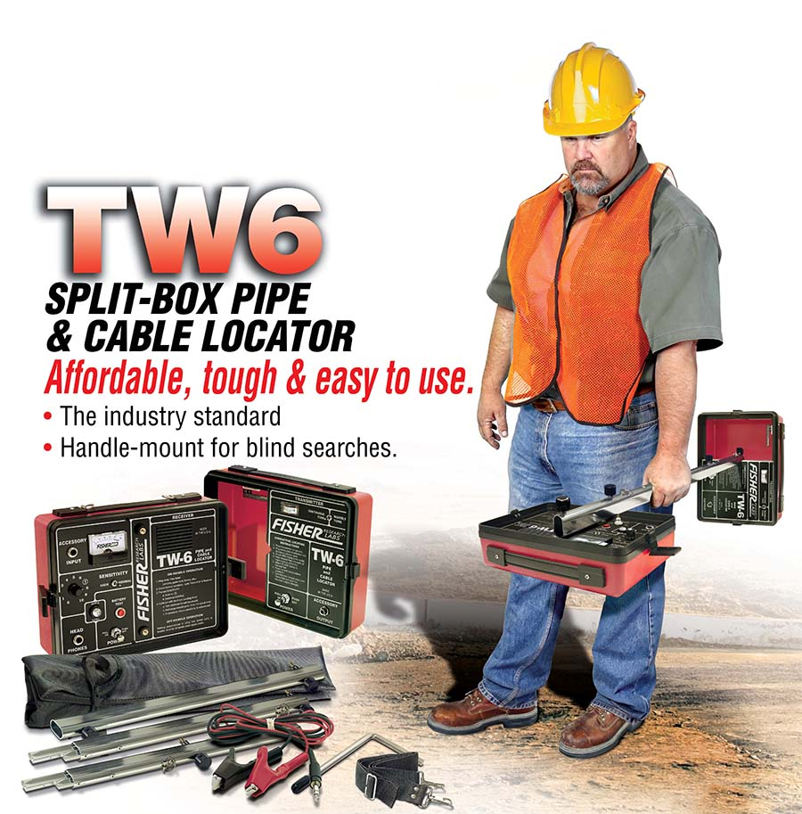 TW-6 Pipe & Cable Locator from Fisher