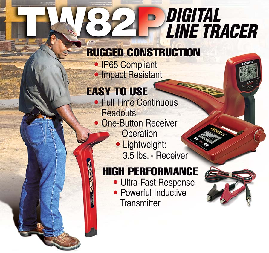 TW-82P Digital Line Tracer from Fisher