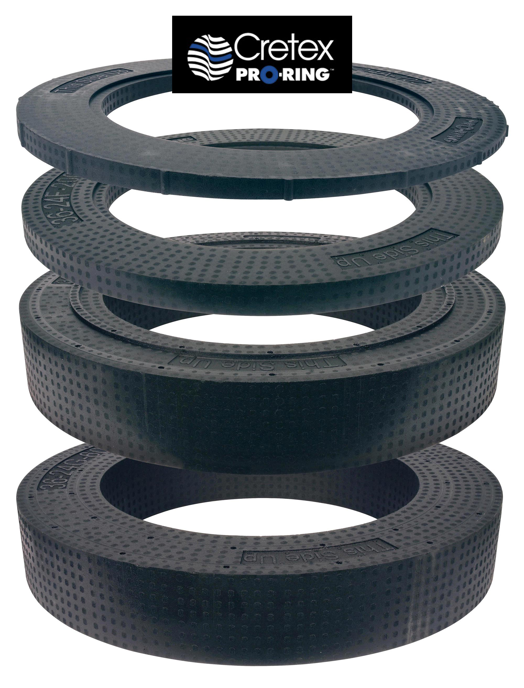 Cretex Pro-Ring System - Manhole Grade Adjustment System Rings